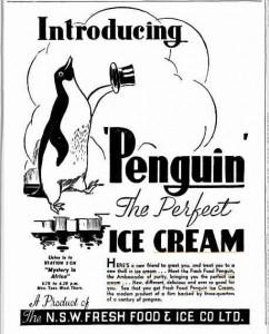 Penguin Ice Cream ad - Sydney Truth 1937