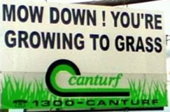 Canturf sign on the road to Bungendore