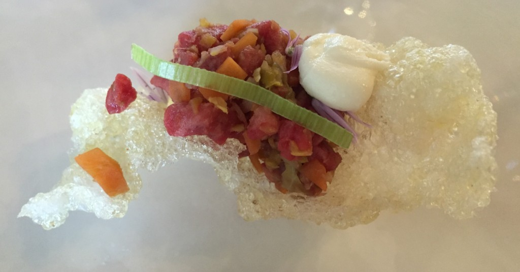 Wagyu tartare, Effervescence, Launceston