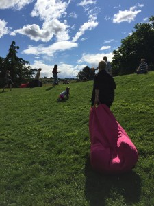 Bean bags in the sun, Josef Chromy wines, Launceston