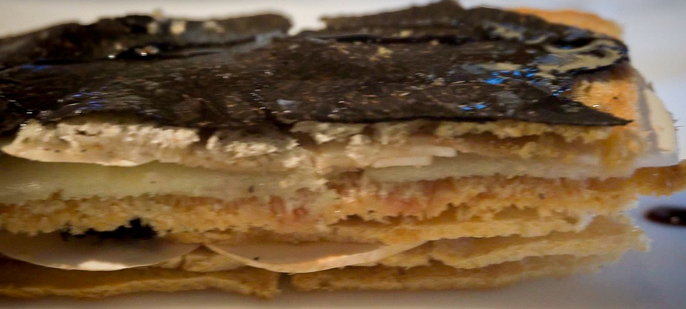 Jubany millefeuille with foie and truffle