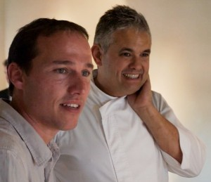 Marcos Morcillo with Chef Nandu Jubany