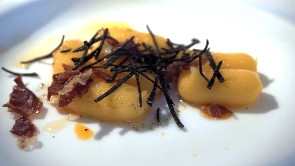 Jubany - Pumpkin gnocchi with truffle
