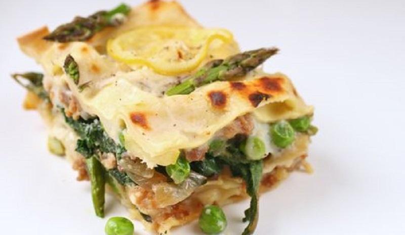 Easter feaster 'spring' lasagne