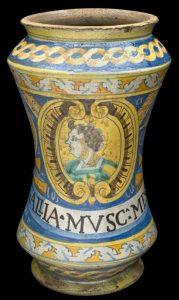 Jar for storing musk lozenges