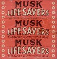 Musk Life Savers wrapper - old
