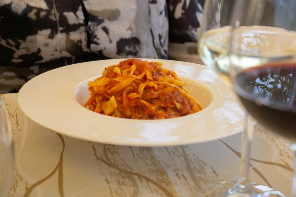 Tagliatelle with ragu of wild boar
