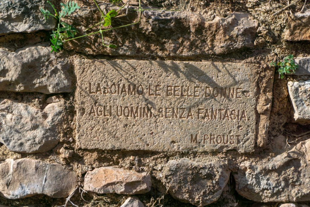 Quote from Proust on Roman aqueduct trail, Spello